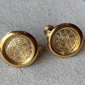 Vintage Napier Gold Clip On Earrings